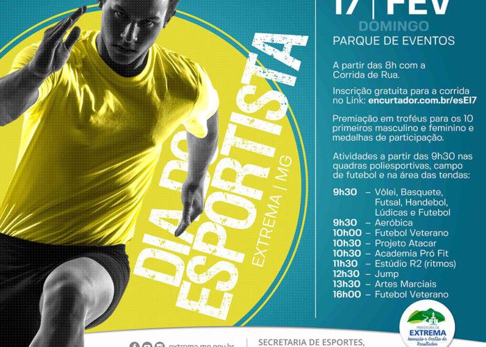 31c1ffa68e As comemorações pelo Dia do Esportista são realizadas pela Prefeitura de  Extrema